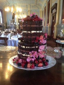 Wedding Cake | Naked Cake with Fruit and Edible Flowers