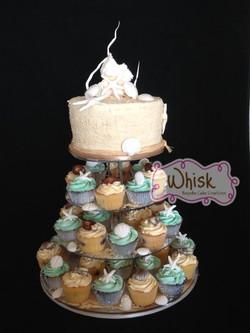Wedding Cake | Beach Cupcakes