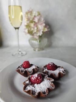 Petit Fours   Chocolate and Raspberry Tart