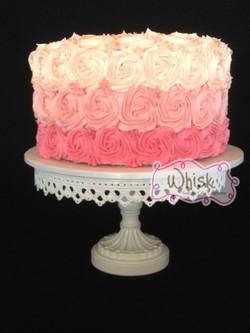 Wedding Cake | Ombre Rosettes