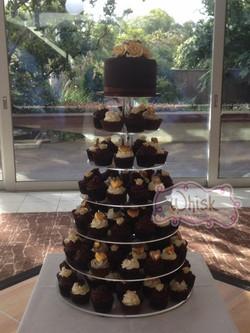 Wedding Cake | Vegan Cupcake Tower