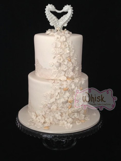 Wedding Cake | Sugar Sweet William Flowers and Shells
