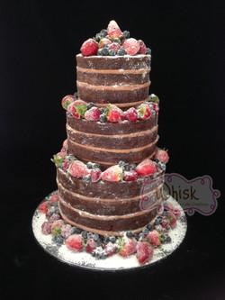 Wedding Cake | Naked Cake with Crystalised Berries