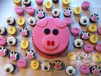 Piggy and Farmyard Cupcakes 251watermake