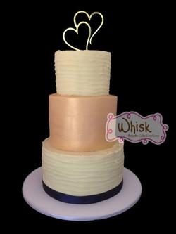 Wedding Cake | Rustic Gold