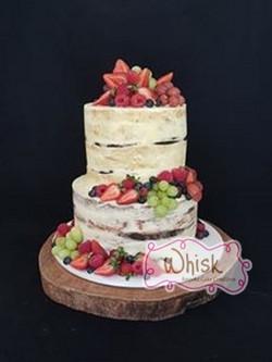 Wedding Cake | Tiered Semi-Naked Cake with Fruit