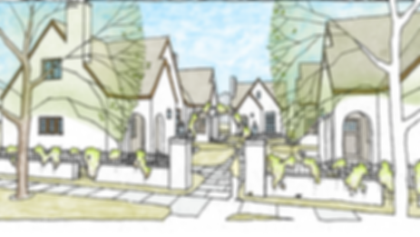 Cottages on Fifth colored rendering