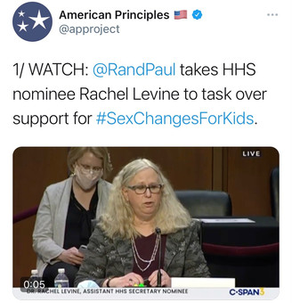 Dr. Rand Paul Takes Transgender HHS Nominee to Task Over Support for Sex Changes for Kids (VIDEO)