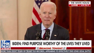 Biden Starts Incoherently Rambling During COVID Memorial Speech on Live TV