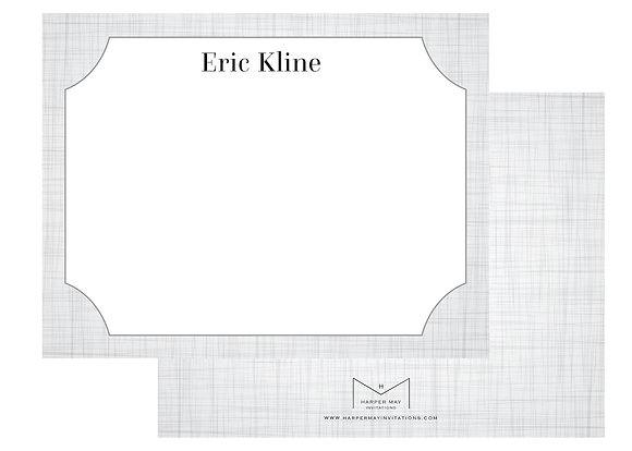 Linen Print Personalized Note Cards