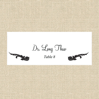 Black Tie Place Card