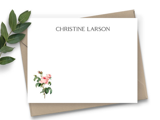 Vintage Roses Note Cards