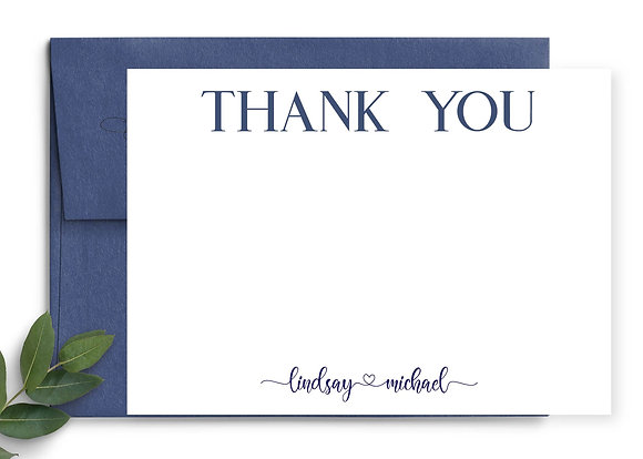 Thank You Heart Note Cards