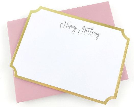 Gold Foil Framed Note Cards