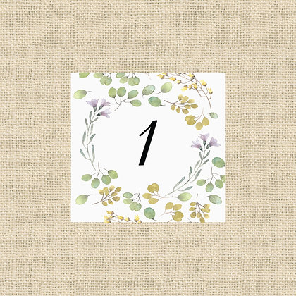 """Up to 5""""x7"""" Table Number      (Any Style)"""