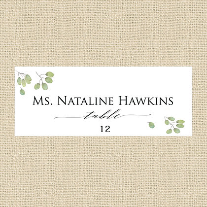 Wildflower Leaves Place Card