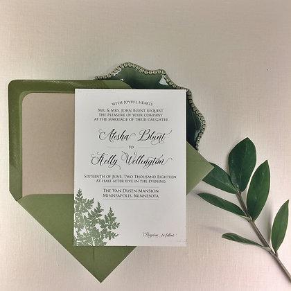 Fern Letterpress Invitation