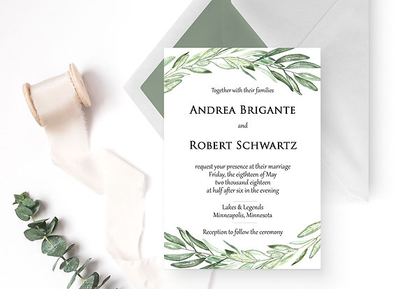Olive Greens Invitation