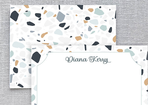 Terrazzo Inspired Note Cards