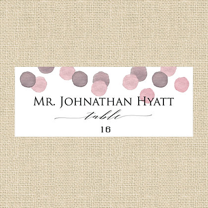 Confetti Place Card