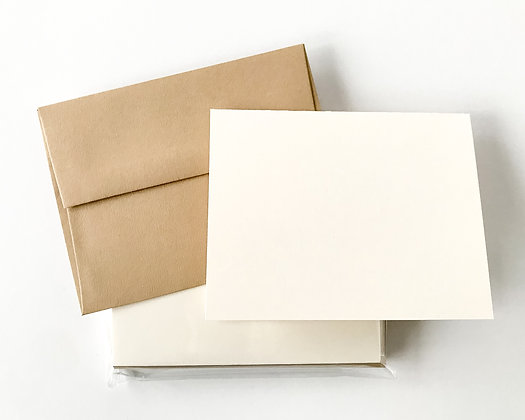 Folded A2 Cards with Envelopes