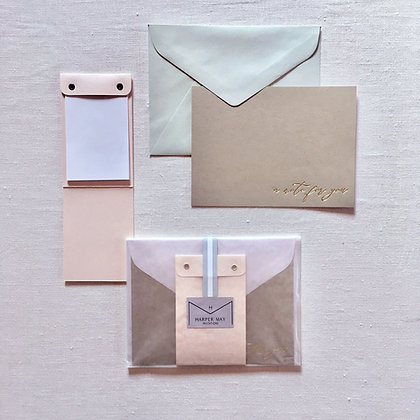 Stationery Set   Notepad and Notecard