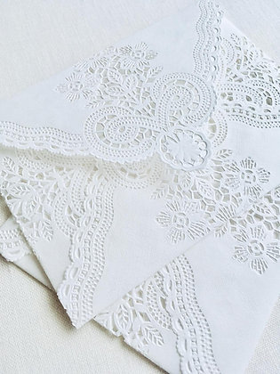 Lace Doily Envelopes | Set of 5