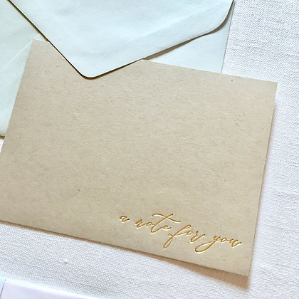 Set of 4 Gold Foil Note Cards