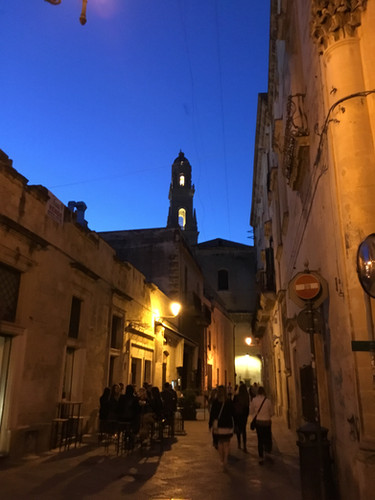 our street in evening in Lecce.JPG