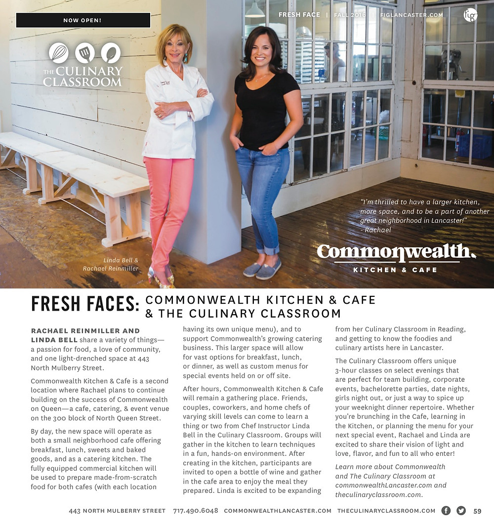 Lancaster, The Culinary Classroom, Lancaster cooking classes, Fig Magazine