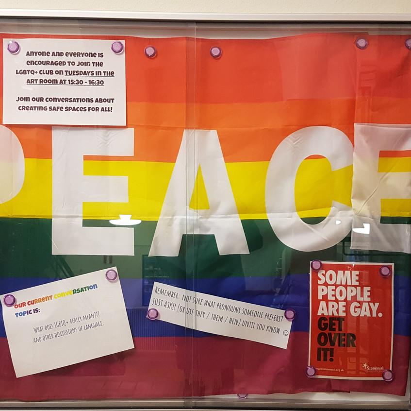LGBTQ+ Club Display