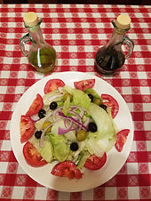 Large Salad Nino's Pizza Mastic Beach
