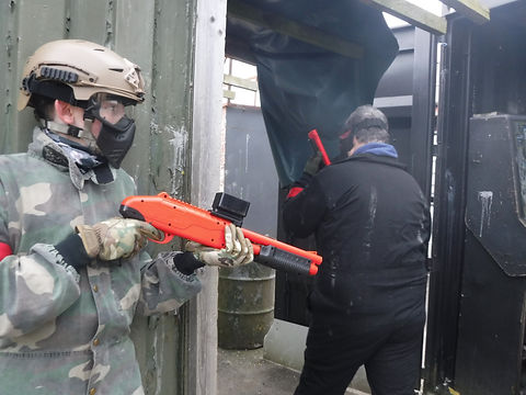 LOW IMPACT PAINTBALL GAME AT BATTLE STATIONS ACTIVITY CENTRE