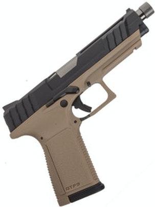 G&G Armament GTP-9 Gas Blow Back Pistol, Black, Tan