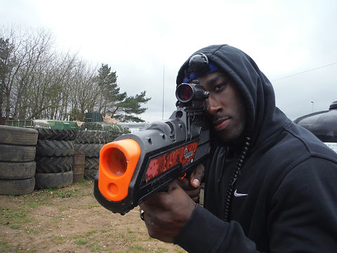LASER TAG PLAYER AT BATTLE STATIONS