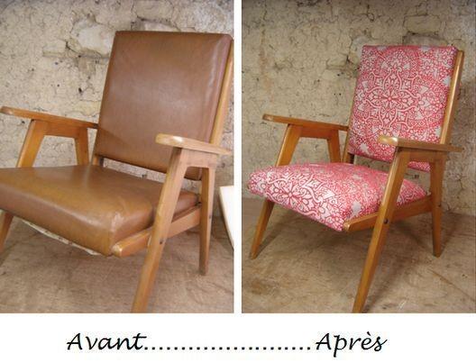 fauteuil années 50 rose
