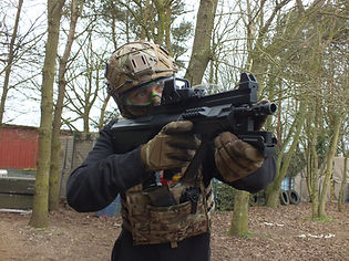 AIRSOFT PLAYER AT BATTLE STATIONS ACTIVITY CENTRE