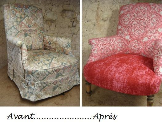 fauteuil anglais rose