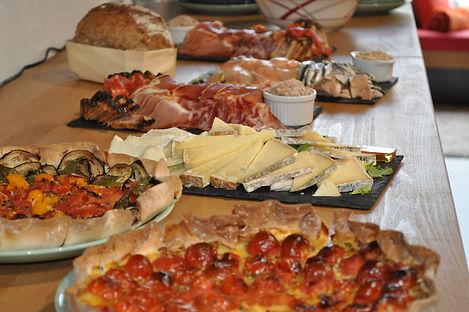 buffet maison pause déjeuner réunion