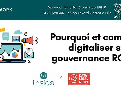 Pourquoi et comment digitaliser sa gouvernance RGPD ? - Afterwork Inside & Data Legal Drive
