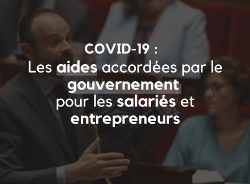 Covid-19 : les aides accordées par le gouvernement