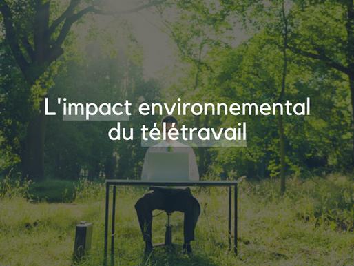 L'impact environnemental du télétravail