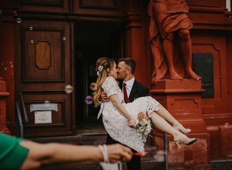 Isabella und Steve - Standesamtliche Trauung in Mannheim