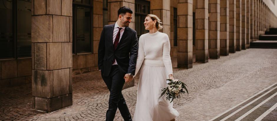 Standesamtliche Trauung in Frankfurt: Meike und Marlon