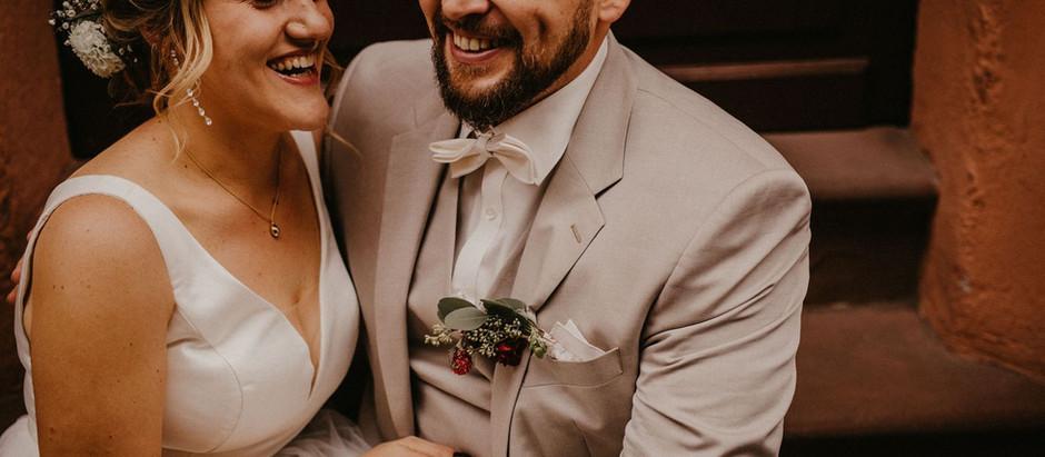 Rebecca und Sebastian: Eine entspannte Hochzeit in Heidelberg - trotz Corona