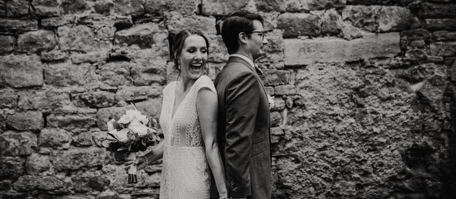 Standesamtliche Trauung und First Look in der Heidelberger Altstadt: Nadine und Patrick