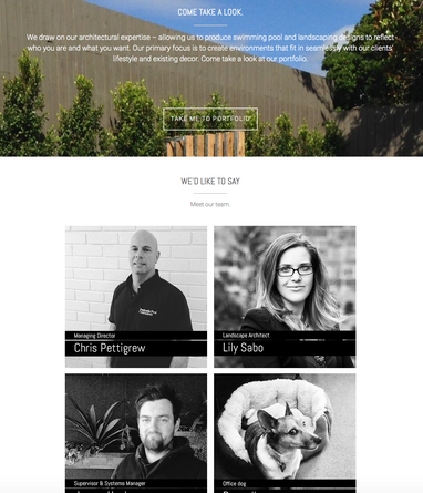 WEB DESIGN, LAYOUT + BUILD