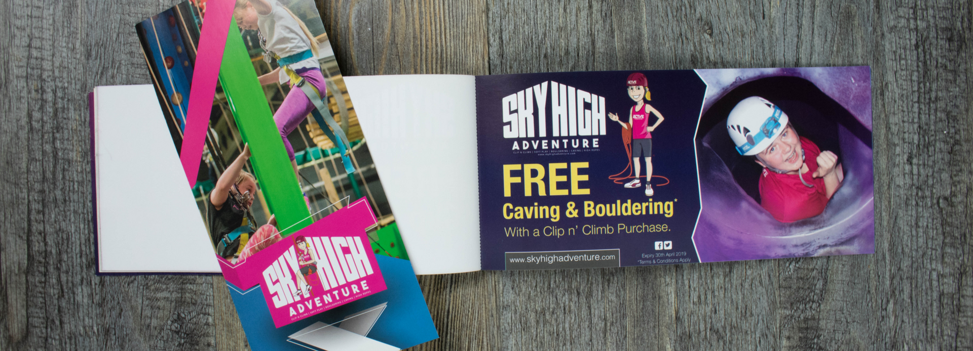 PERFORATED VOUCHER BOOKLETS • Sky High Adventure