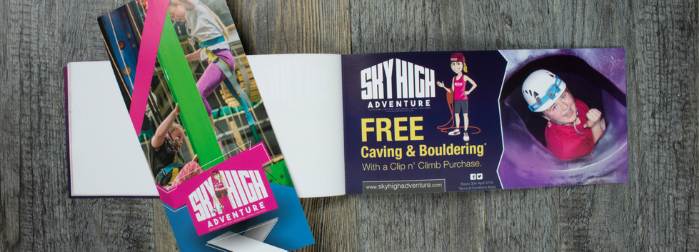 PERFORATED VOUCHER BOOKLETS •Sky High Adventure