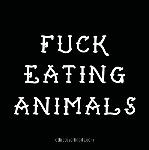 Fuck Eating Animals Stickers (Pack of 30)